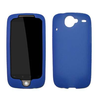 Skin Accessory Package (Premium Blue Silicone Gel Skin Cover Case for HTC Nexus One [Accessory Export Packaging])
