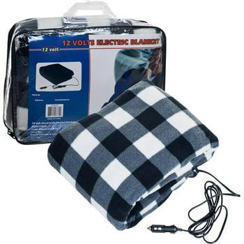Trademark Tools 12V Plaid Electric Blanket