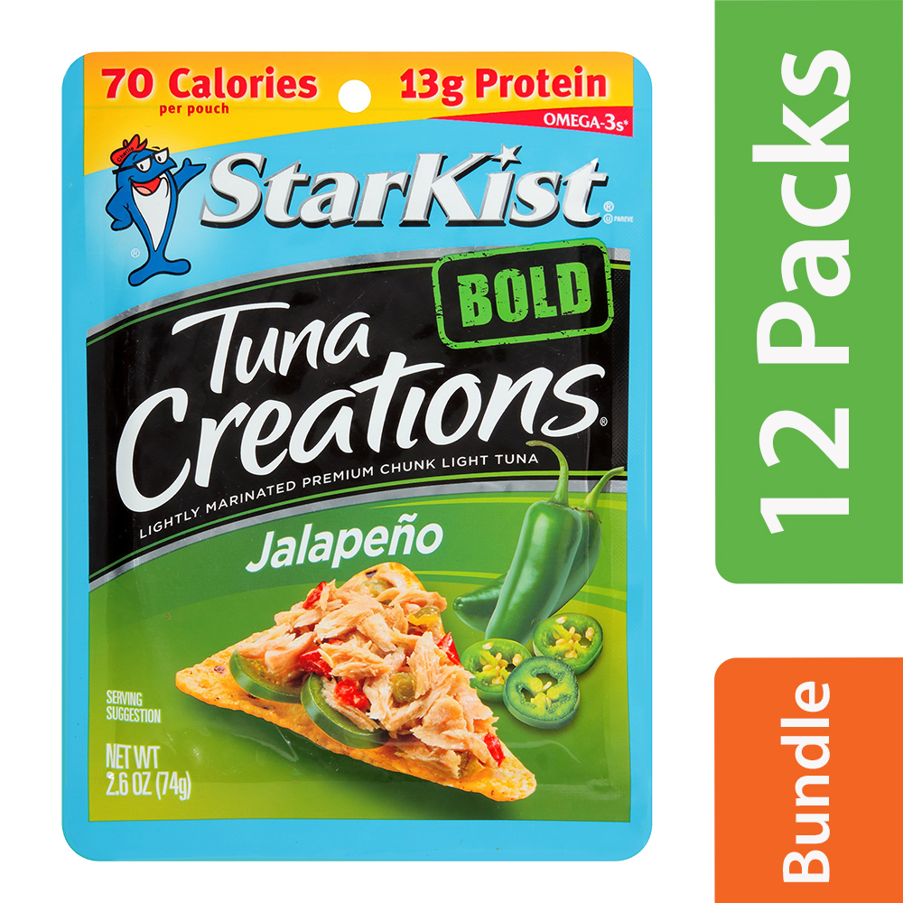 StarKist Tuna Creations Bold Jalapeno Tuna, 2.6 oz Pouch (12 Packs)