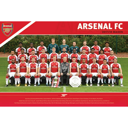 Aresenal FC - Soccer / Premier League Poster (Team Photo 2017 / 2018) (Size: 36
