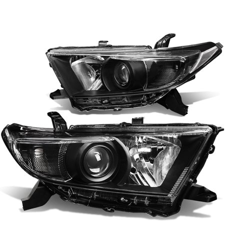 For 2011 to 2013 toyota Highlander OE Style Projector Headlight Black Housing Clear Corner Headlamps 12 (Reset Tire Pressure Light Toyota Highlander 2013)