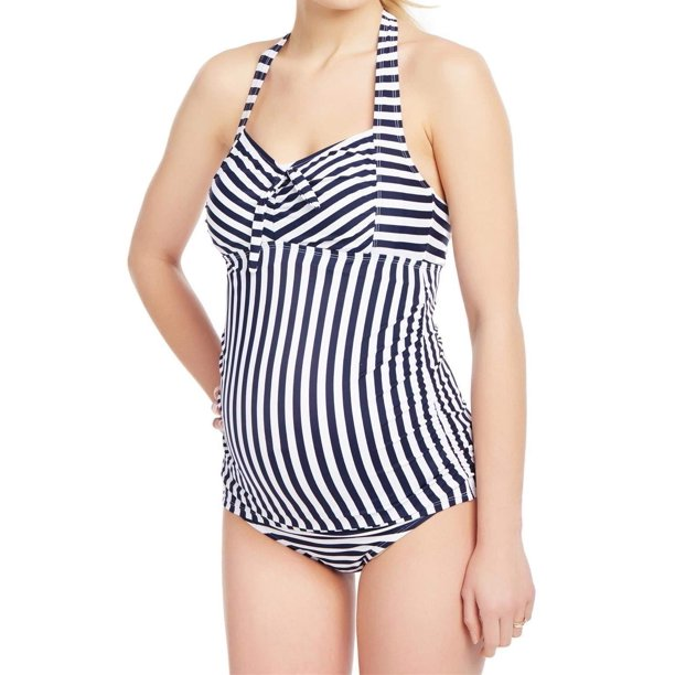Beach Bump By Motherhood Maternity Swimwear Beach Bump Womens Swimwear Medium Striped Two Piece Set M Walmart Com Walmart Com