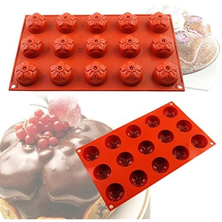 IClover 15-Cavity Oval Silicone Baking Mold Pan, Bakeware for Soap, Cake, Bread, Cupcake, Cheesecake, Cornbread, Muffin, Brownie, and More - Halloween Cheesecake Cupcakes