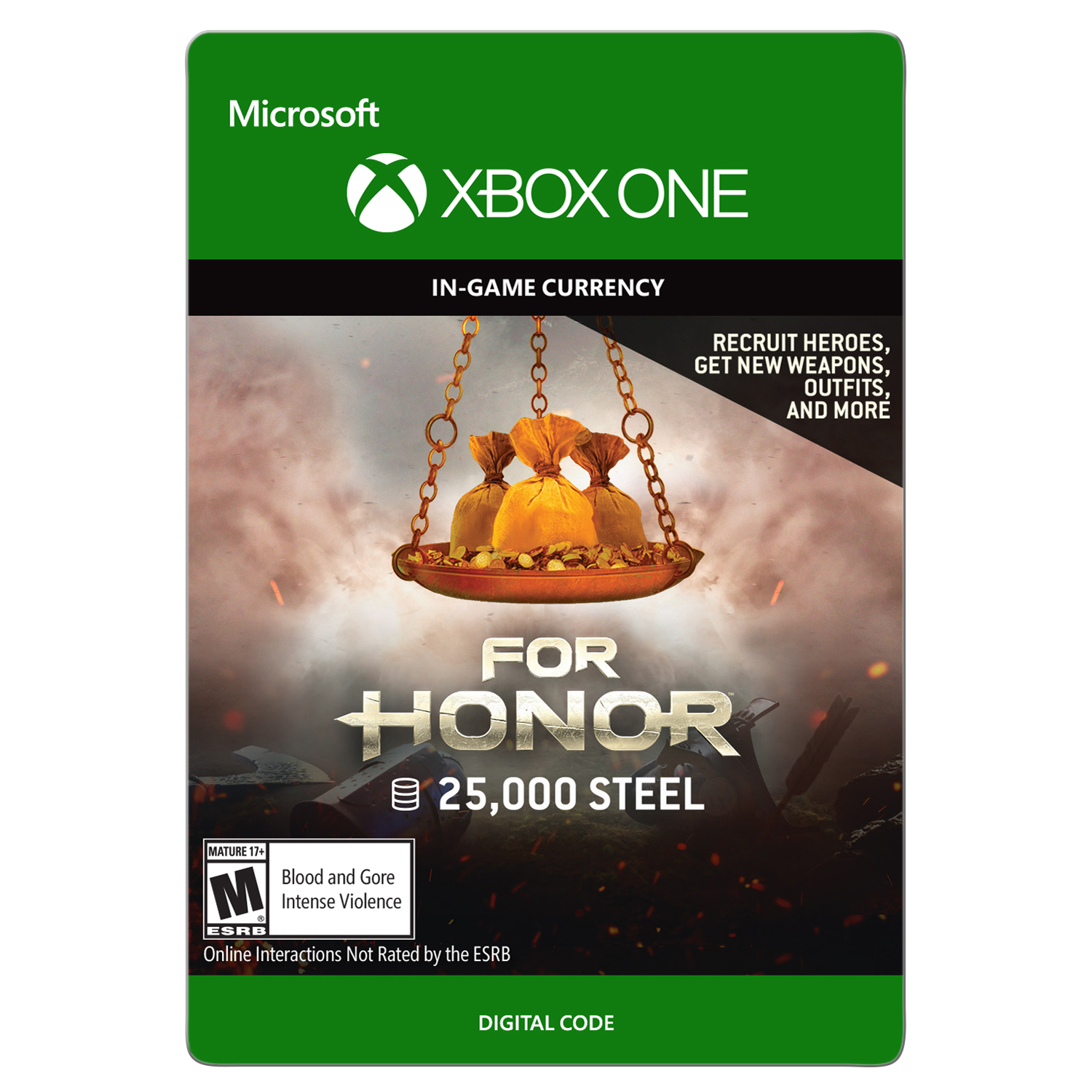 Xbox One For Honor Currency pack 25000 Steel credits (email delivery)