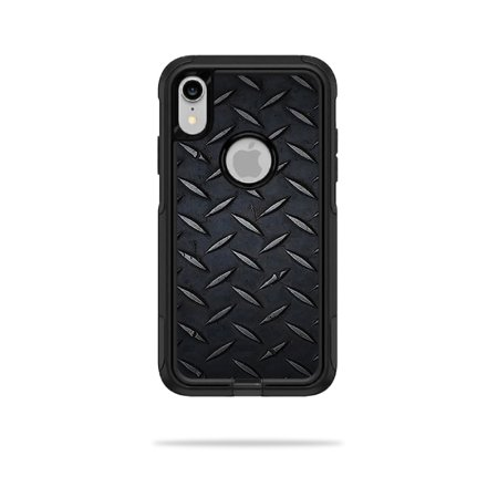 Skin for OtterBox Commuter iPhone XR Case - Black Diamond Plate | Protective, Durable, and Unique Vinyl Decal wrap cover | Easy To Apply, Remove, and Change Styles