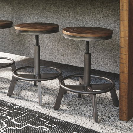 Signature Design by Ashley Torjin Adjustable Height Bar Stool - Set of 2