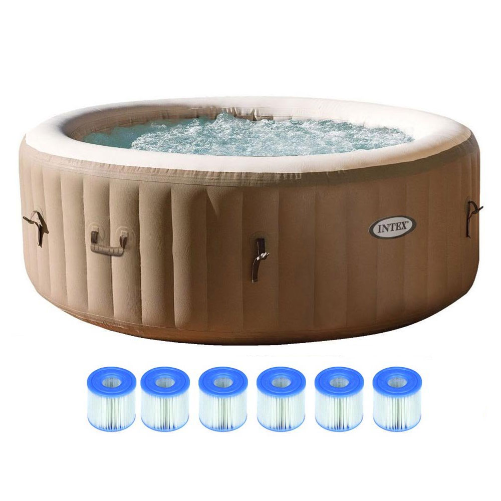 Intex Pure Spa 4 Person Inflatable Portable Outdoor Hot Tub Jacuzzi Jet Pool