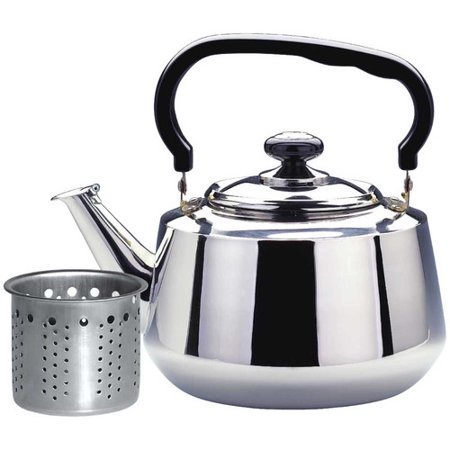 alpine cuisine stainless steel tea kettle
