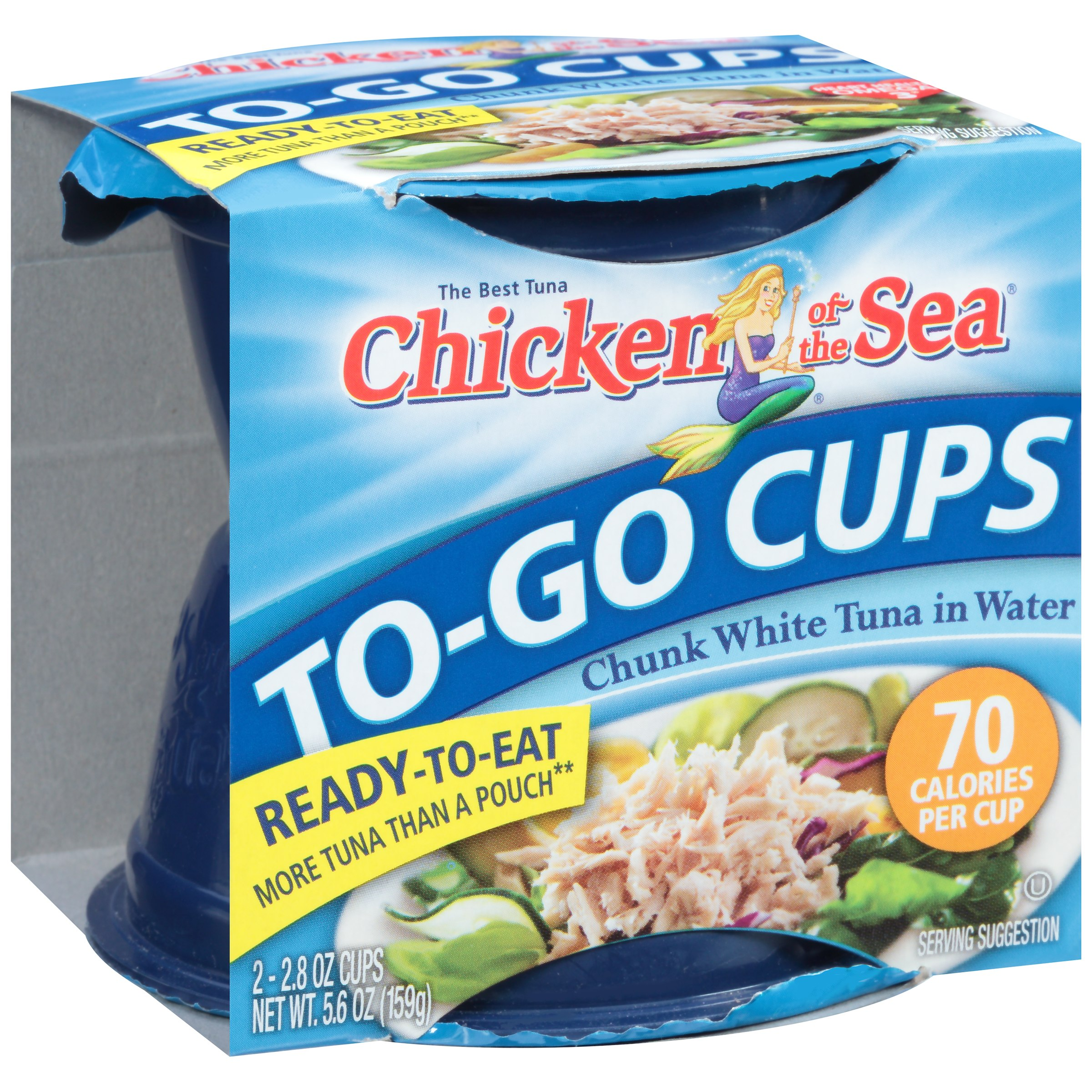 Chicken of the Sea® Chunk White Tuna in Water 2-2.8 oz. To-Go Cups 301