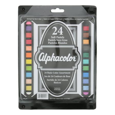Quartet Alphacolor Square Pastel Set, 24-Colors, Basic (Alphacolor Soft Pastels)