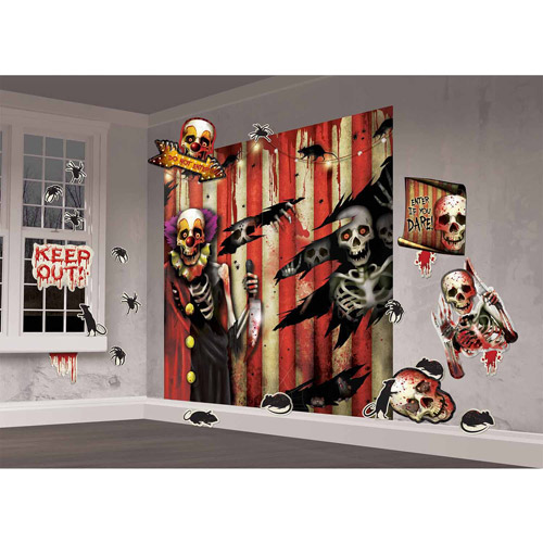 Creepy Carnival Wall Decorating Kit (Each) - Party Supplies