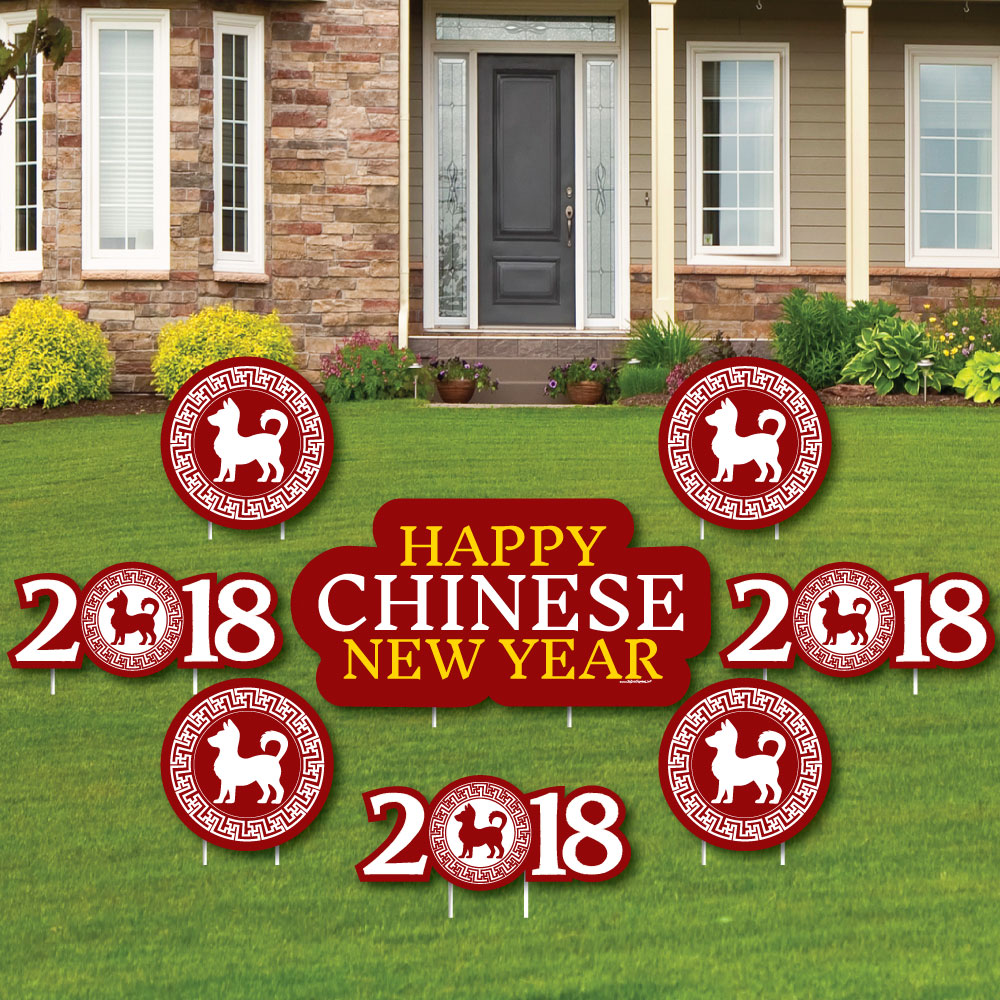 Big Dot of Happiness Chinese New Year - Yard Sign & Outdo...