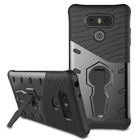 - LG G6 Case, Mignova Hybrid Protective Case Shock-Absorption Drop-Protection Hard PC Shell & Soft Silicone Inner Case with Kick Stand for LG G6 Cell Phone (Gray)