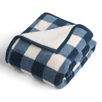 30cbe3f4b3 Product Image Better Homes   Gardens Printed Sherpa to Sherpa Throw Blanket