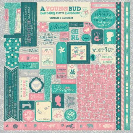 Darling Girl Cardstock Stickers 12