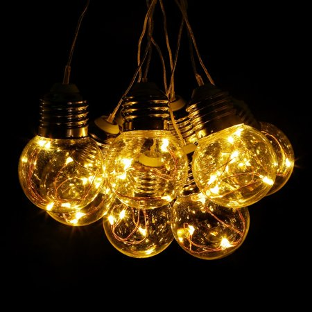 Outdoor String Lights Plastic Bulbs : Lighting EVER LED Globe Copper Wire String Lights 25 Units G45 Bulbs Plastic Waterproof 19.69ft ...
