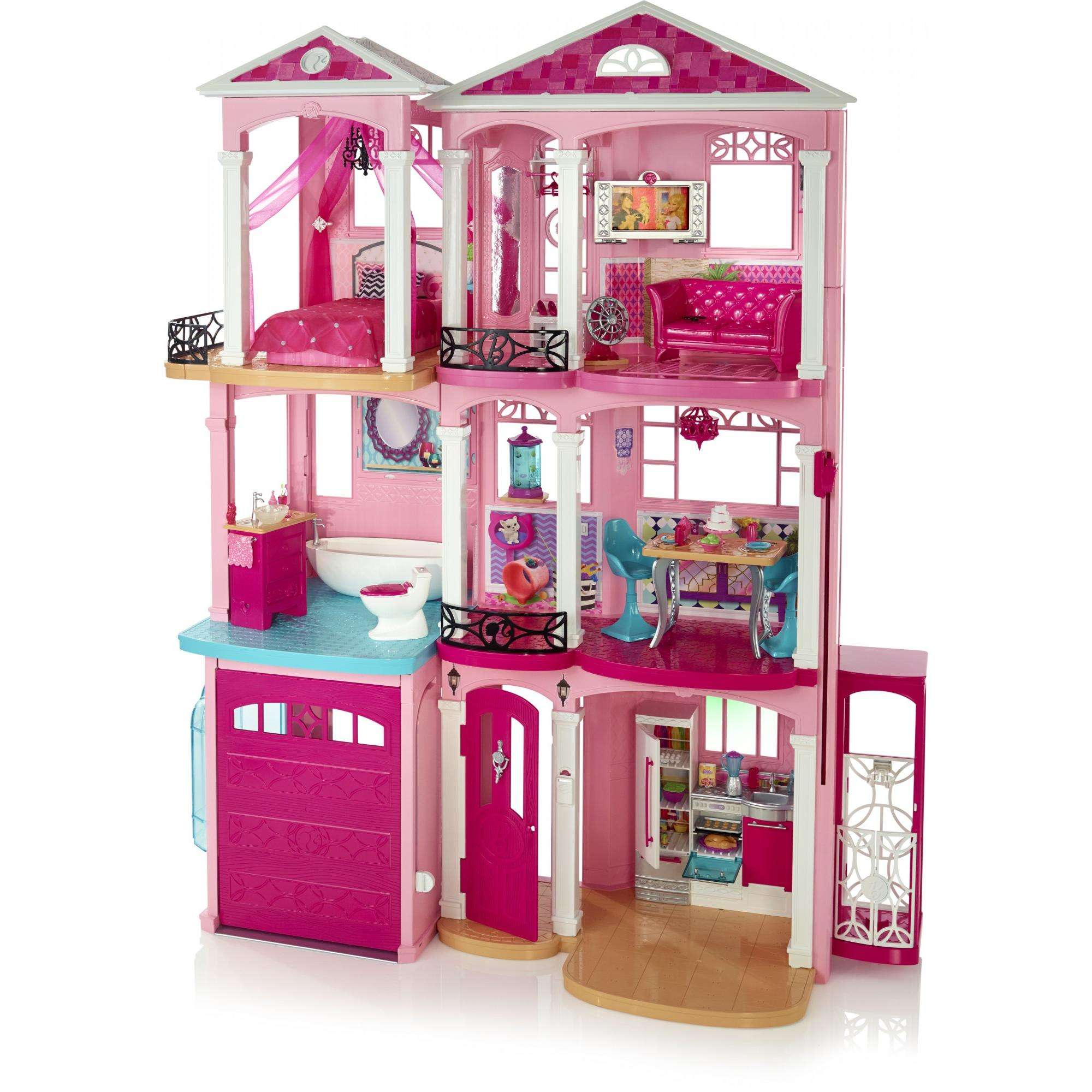 Barbie Dreamhouse Playset With 70 Accessory Pieces Walmart Com