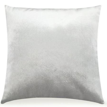 Pal Fabric Velvet Cushion Sham Throw Decroractive Sofa Pillow Cover 18x18 inches (SILVER) ()