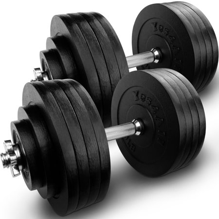 727c0c2a296 Yes4All 200 lb Adjustable Dumbbell Weight Set - Cast Iron Dumbbell (a Pair)