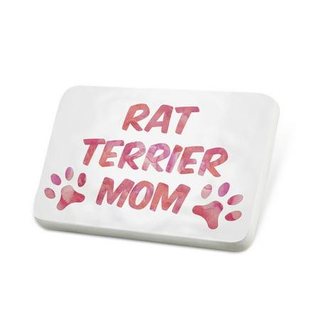 Porcelein Pin Dog & Cat Mom Rat Terrier Lapel Badge – NEONBLOND