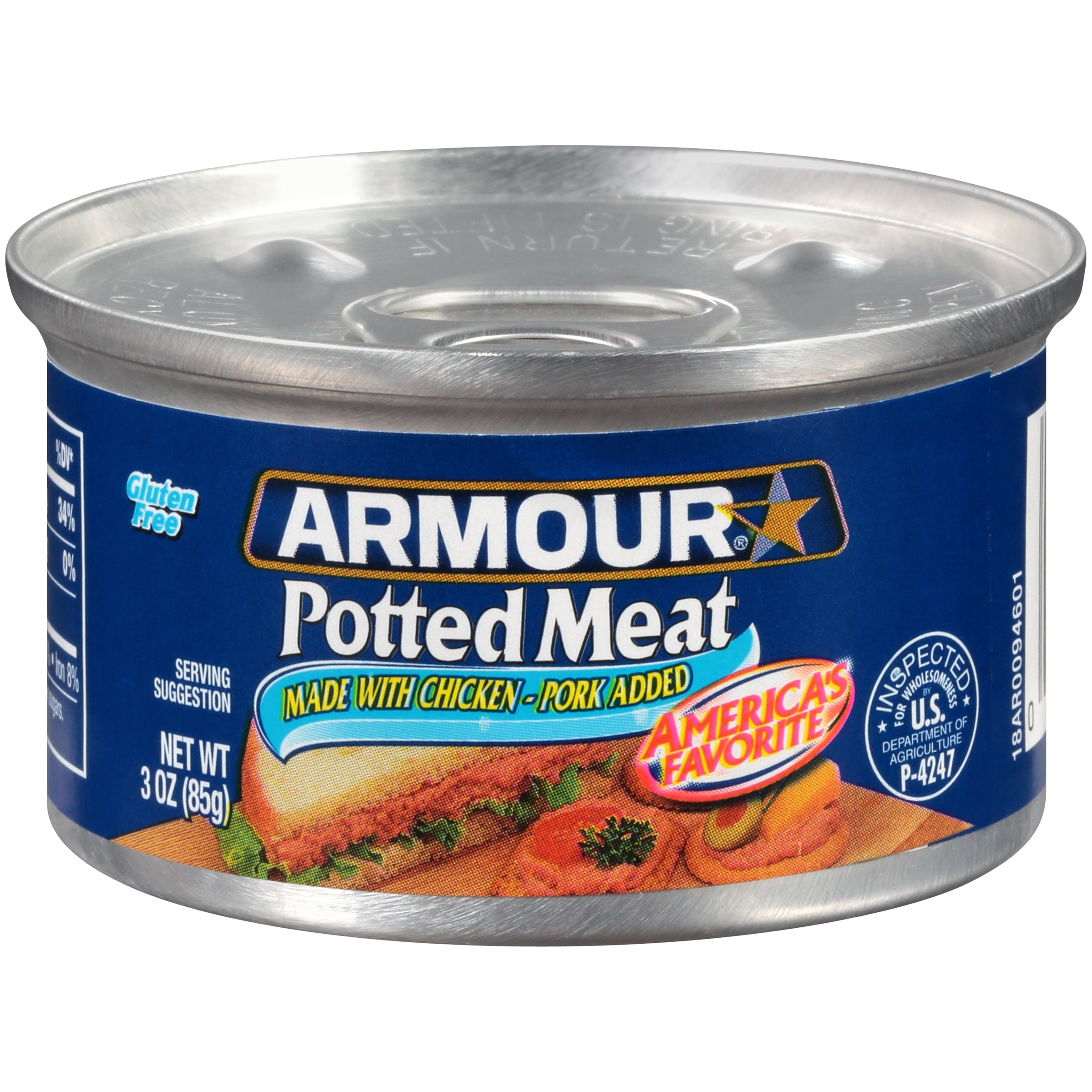 Armour Chicken & Pork Potted Meat, 3 oz Can