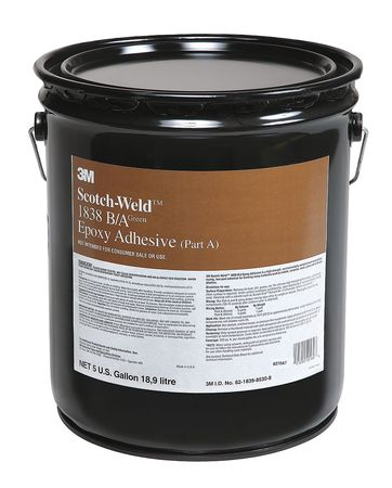 3M 1838 Epoxy Adhesive, Part A, 5 gal, Green, PK5 by 3M