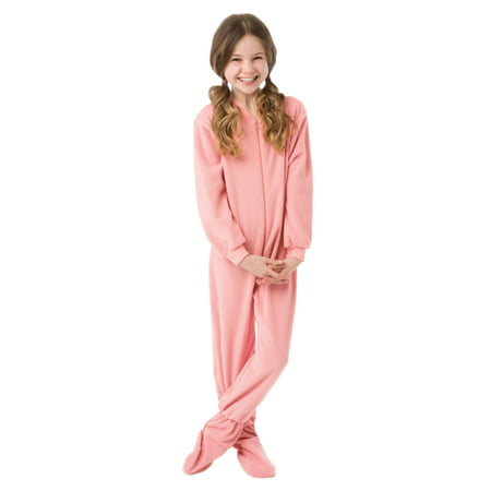 1f2797f2f0aa Big Feet Pajamas - Big Feet Pjs Big Girls Kids Pink Fleece Footed Pajamas  One Piece Sleeper Footie Pajamas - Walmart.com