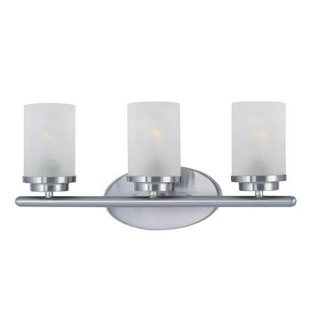 Bathroom Vanity 3 Light Bulb Fixture With Satin Nickel Finish MB Bulb Type 19 inch 180
