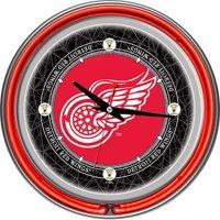 "NHL Vintage Detroit Redwings 14"" Neon Wall Clock"