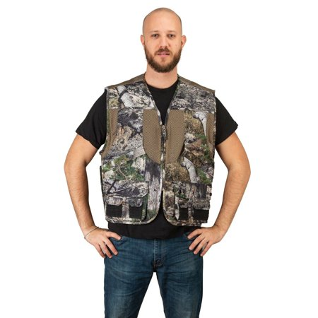 Mossy Oak Camo Mens Deluxe Front Loader Hunting Shooting Vest -Turkey- Bird (Mountain Country,L) thumbnail