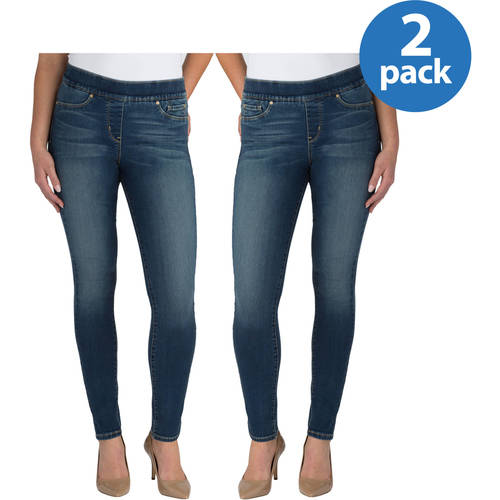 Signature by Levi Strauss & Co. Women's Totally Shaping Pull On Skinny Jeans, 2 pack