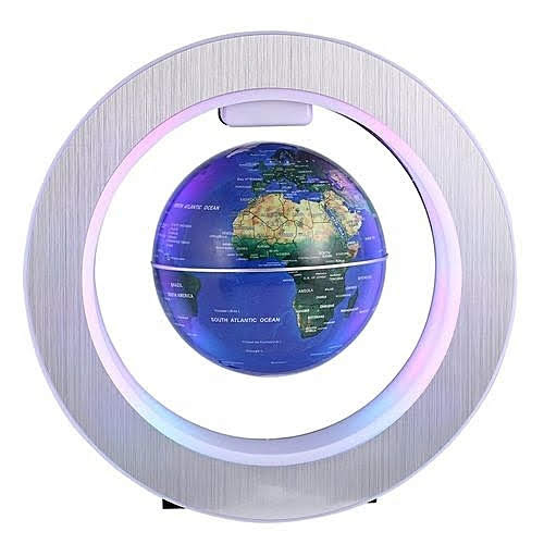 World Globes Desktop,4'' O Shape Anti Gravity Globe Magnetic Levitation Floating Globe Illuminated And Changeable Color Globe World Map With Colored Led Light,Gifts For Kids,Desk Decor