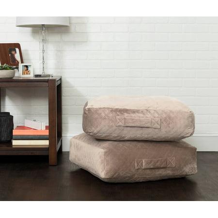 - Better Homes & Gardens Everly Velvet Box Floor Cushion