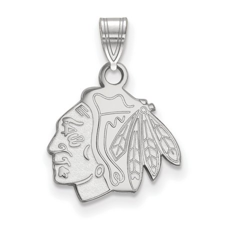 Chicago Blackhawks Small Pendant In Sterling Silver 1 40 Gr
