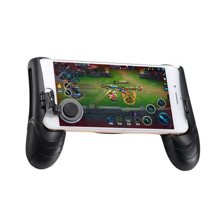 Game Controller Mobile Joystick Joypad Gamepad Ergonomic Design Handle Holder Grip Handgrip Stand Game Clutch (Black)
