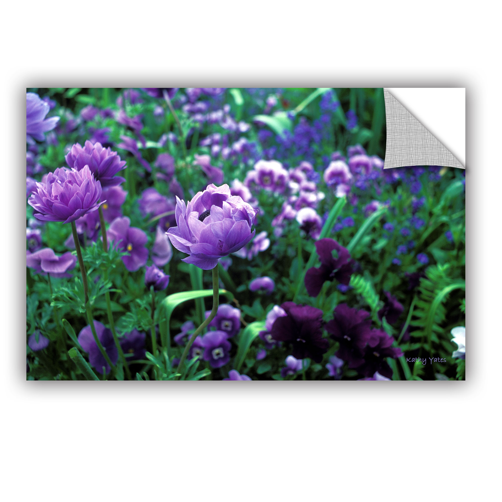 'Poppies in Monets' Removable Wall Art Mural