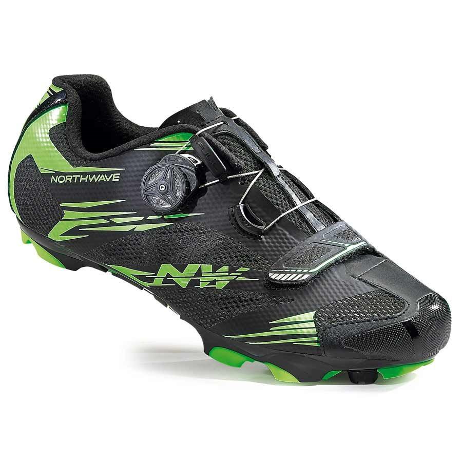 Northwave, Scorpius 2 Plus, MTB shoes, Black/Green Fluo, 42