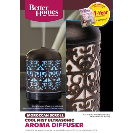 Better homes gardens 100 ml moroccan scroll essential oil diffuser best oil diffusers Better homes and gardens diffuser
