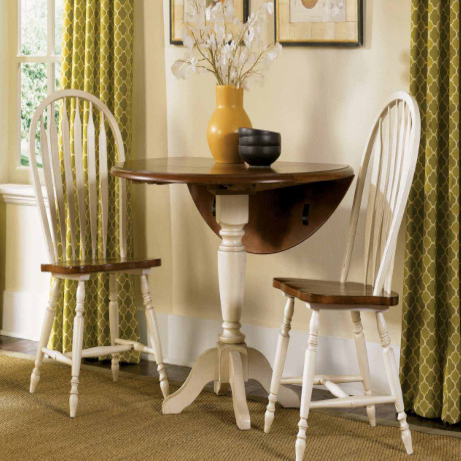 Liberty Furniture Low Country Sand 3 pc. Drop Leaf Table Set with Windsor Chairs