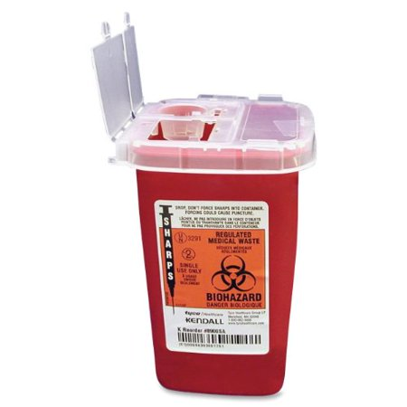 - Unimedmidwest Sr1q100900 Unimed-midwest Sharps 1 Quart Phlebotomy Container With Lid - 1quart - External Dimensions 6.25