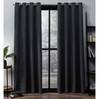 Exclusive Home Curtains 2 Pack Oxford Textured Sateen Thermal Grommet Top Curtain Panels