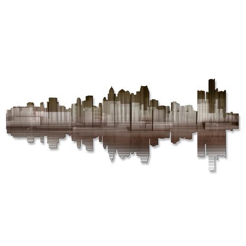 All My Walls Detroit Reflection II Wall D cor