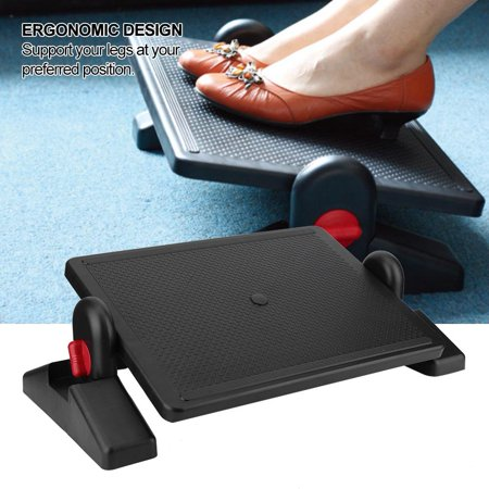 Hilitand Portable Ergonomic Foot Pedal Rest Adjustable Height for Office Home Use, Portable Foot Rest, Office Foot Rest