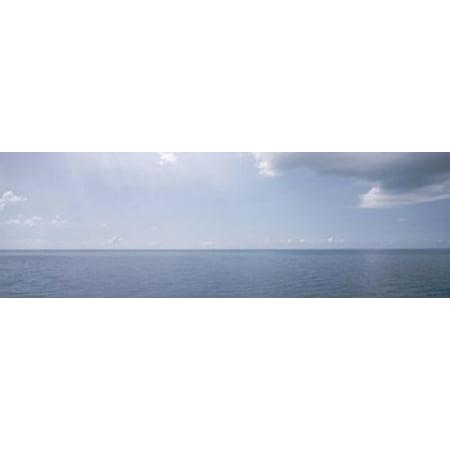 Clouds over the sea Atlantic Ocean Bermuda USA Poster Print