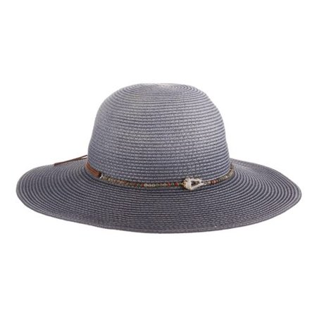 Women's Tommy Bahama TBWL98OS Round Crown Straw Hat Navy One Size (21)