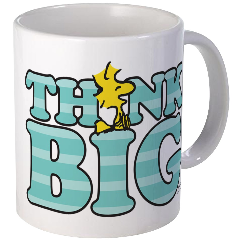 CafePress - Woodstock-Think Big Mug - Unique Coffee Mug ...