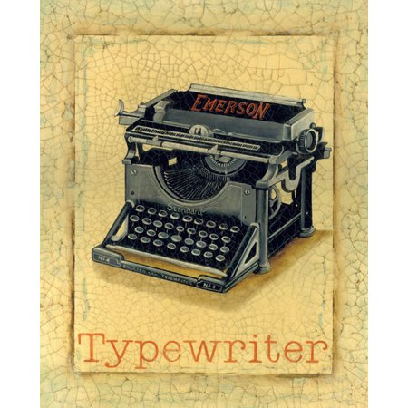 Typewriter Nine To FIVe III Sign Fifties Cool 50'S Typewriter Ad Retro Office Bathroom Decor 11X14 - Fifties Theme