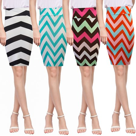 Womens Stripe Bodycon Skirt Casual High Waist Pencil Slim Sexy OL New Fashion Office Lady  Knee Length  Midi Spring Summer  Autumn