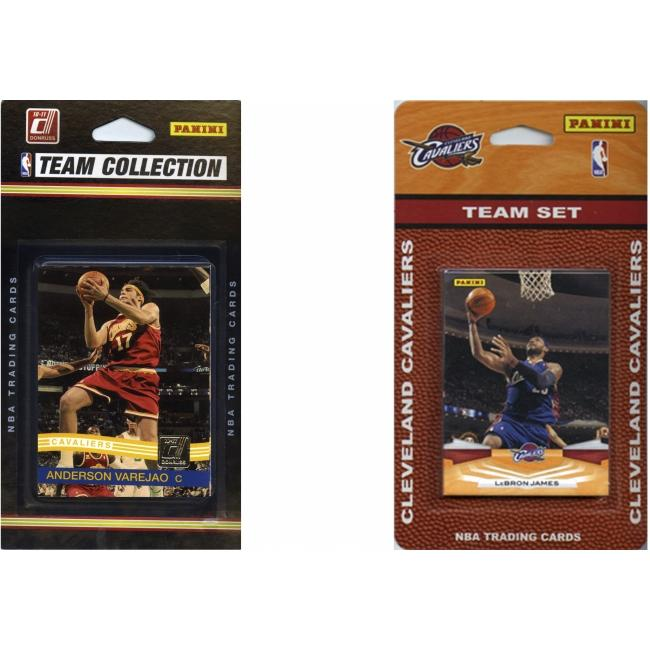 C & I Collectables CAVS2TS NBA Cleveland Cavaliers 2 Different Licensed Trading Card Team Sets