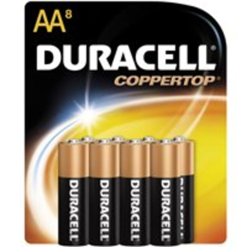 Duracell CopperTop AA Alkaline Household Batteries, 8 count